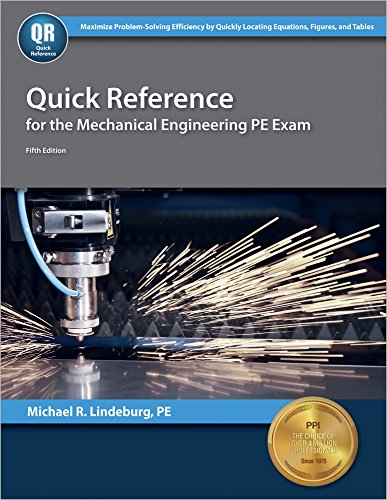 Pdf Engineering Quick Reference for the Mechanical Engineering PE Exam, 5th Ed
