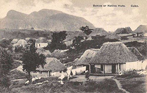Cuba Bohias Native Huts Village Birdseye View Antique Postcard K88985 (Huts Postcard Native)