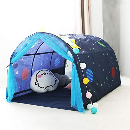 Net Bed Canopy for Girls Semi-Circular Multi-Functional Children's Play Reading Game Home Decoration Boy Toy House,Blue (Semi Circular Canopy)
