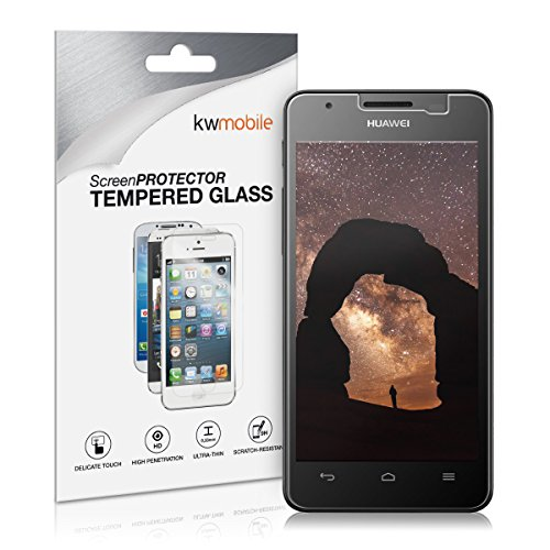 kwmobile Screen protector tempered glass for Huawei Ascend G520 / G525 in crystal clear - Premium quality