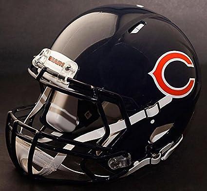 Amazon.com   Riddell Speed Chicago Bears NFL Replica Football Helmet ... 6bce56ba2