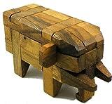 Elephant Kumiki - 3D Brain Teaser Wooden Puzzle