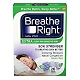 Breathe Right Extra Clear Drug-Free Nasal Strips for Nasal Congestion Relief 26 count