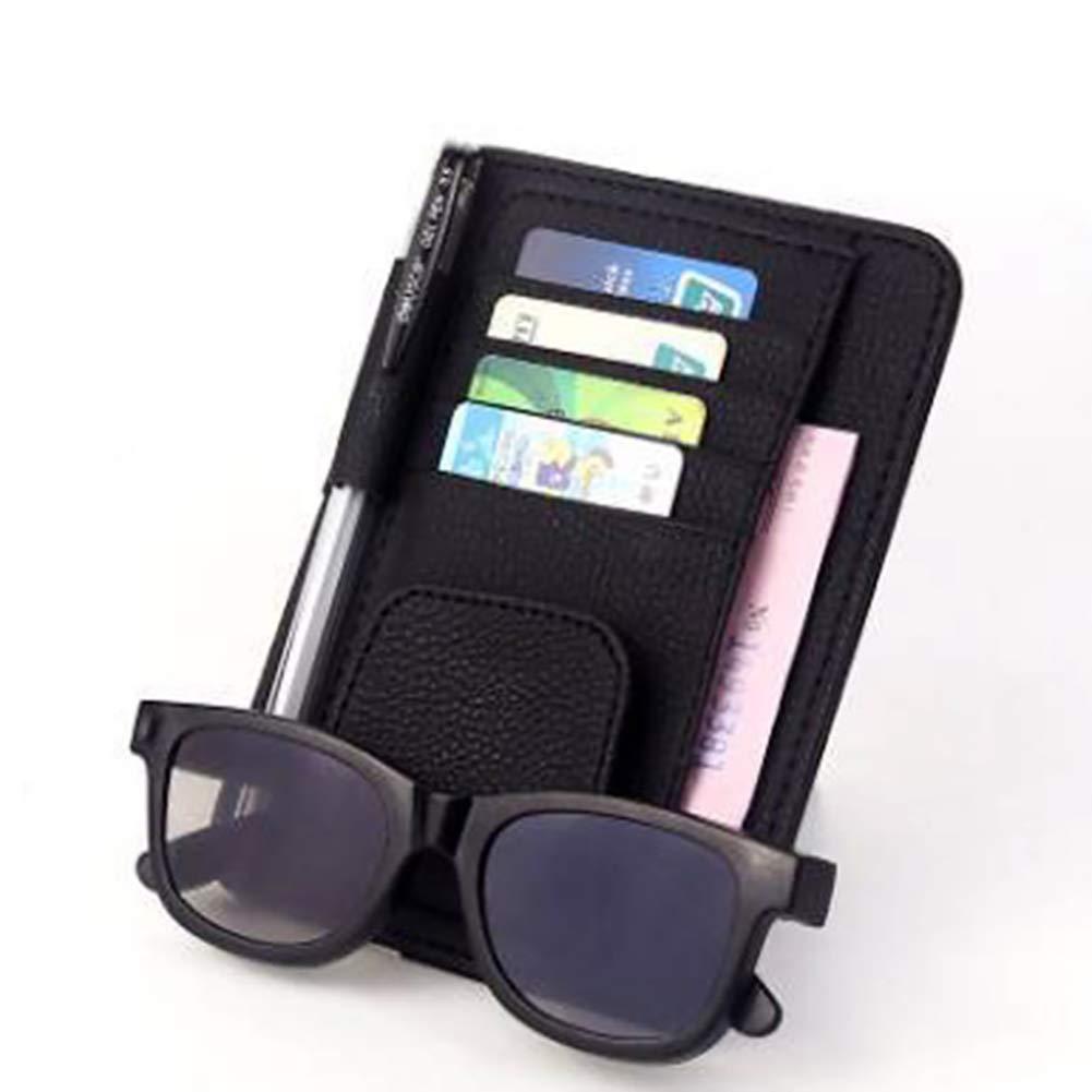 omufipw Auto Sonnenblende Organizer Multifunktions-Brillenhalter Kartenhalter Auto Karte Aufbewahrungstasche