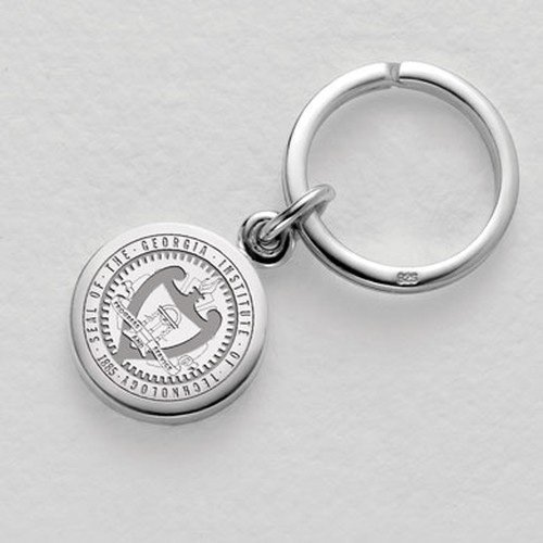 Georgia Tech Sterling Silver Insignia Key Ring by M. LaHart