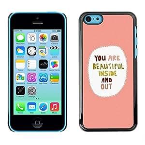 Be Good Phone Accessory // Dura Cáscara cubierta Protectora Caso Carcasa Funda de Protección para Apple Iphone 5C // Sweet Love Hearts Girlfriend
