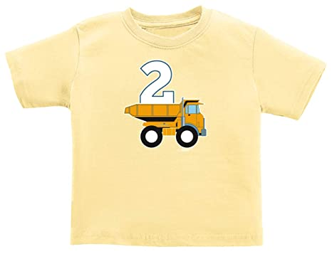 Truck Theme Infant Shirt Clothes 2nd Birthday Gifts Construction T 18