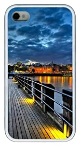 iPhone 4S/4 Case Cover - Thames Pier Stylish Custom Design iPhone 4s/4 Case and Cover - TPU - White