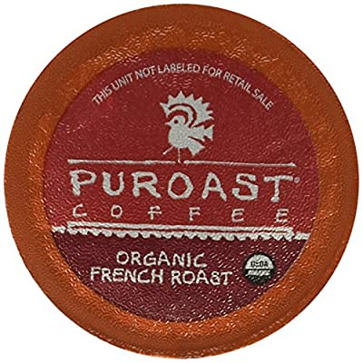 Puroast Low Acid Coffee French Roast Fans K Cups, French/Organic French, 100 Count