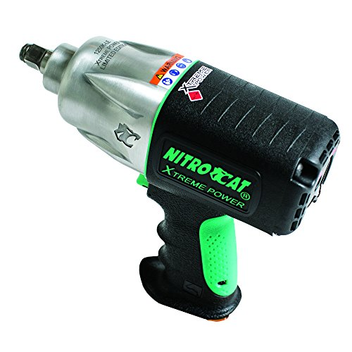 AIRCAT 1250K-LE 1/2' Drive Kevlar Impact LIMITED Edition, Small, Black with Green Trim
