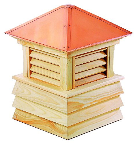 25'' Handcrafted ''Chelsea'' Copper Roof Wood Cupola by CC Home Furnishings