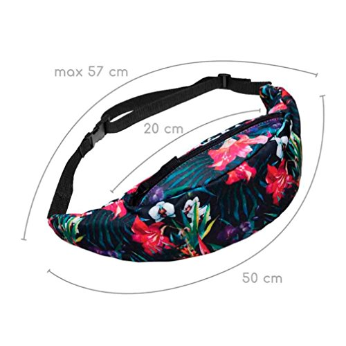 Fcostume Belt Sports Bag Running Zip Waist Hiking Pack Pouch FUHzxyqw5