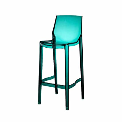 Amazon.com: Bar Stools Transparent Square Kitchen Breakfast ...