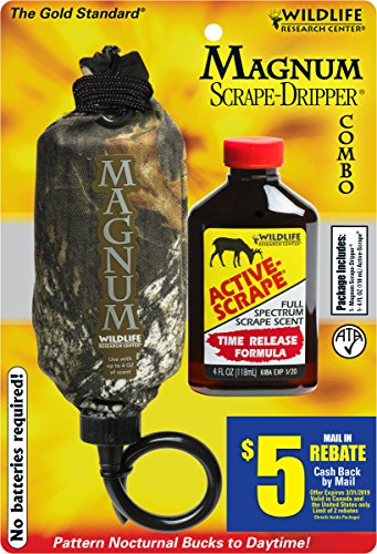 Wildlife Research Center Buck (Wildlife Research 385 Magnum Dripper Active-Scrape Combo, 4 Fluid Ounces)