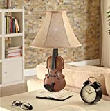 Fashion violin desk lamp cloth lamp Dengzhao room bedroom bed creative garden table lamps , button switch 5w