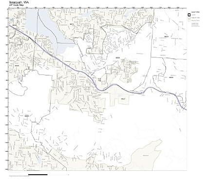 Issaquah Zip Code Map.Amazon Com Zip Code Wall Map Of Issaquah Wa Zip Code Map Laminated