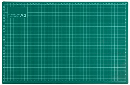 12 Cutting Board Square (Self Healing Cutting Mat - 12 x 18 inches Professional 5-Layer Rotary Cutting Mat, Double Sided, Durable, and Non-Slip, Great for Scrapbooking, Quilting, Sewing, Arts and Crafts, Green)