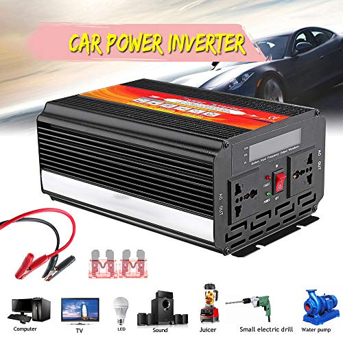 Dolloress 8000W Car Power Inverter 12/24V to 110/220V Sine Wave Converter With Blade ()