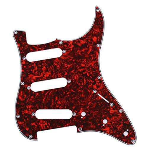 1 opinioni per LEORX 11 Fori Rosso Battipenna per Chitarra Elettrica SSS Strat