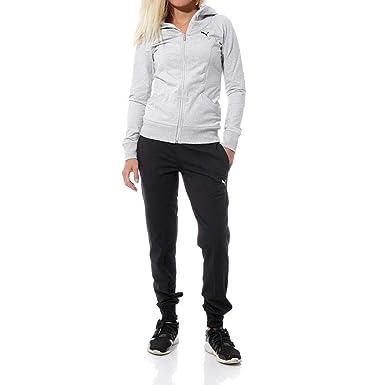 nouveau design meilleure collection vif et grand en style Puma Hooded Femme Survêtement Gris: Amazon.fr: Vêtements et ...