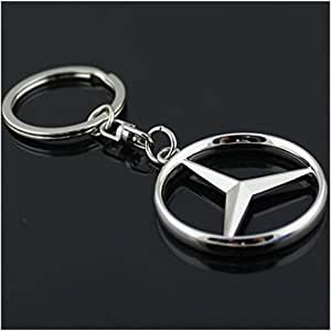 Funsport Car Key Chain Rings - 3D Premium Metal Alloy Key Holder (Fit Benz)