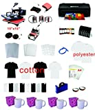 8in1 15''x15'' Pro Sublimation Heat Transfer Machine Epson Printer 1430 CISS KIT
