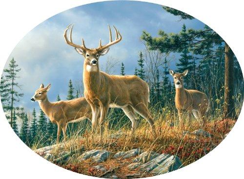 Buffalo Games Oval Cameo: Hautman - Whitetails