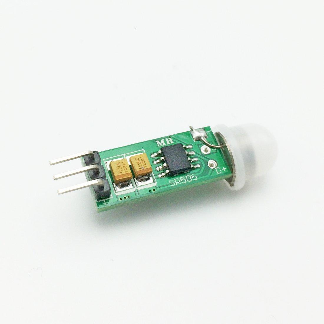whataval am-097 Mini IR piroeléctrico infrarrojo PIR Movimiento Humano Sensor Detector de módulo SR505: Amazon.es: Electrónica