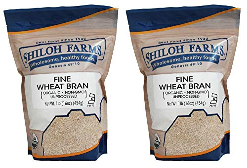 Shiloh Farms Organic Fine Wheat Bran - 16 Ounce Bag (Pack of 2) - An easy and convenient way of adding fiber to your diet