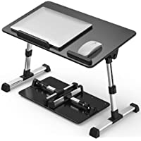 【Large Size】 Fiyobo Folding Laptop Bed Tray Table,Adjustable Standing Bed Desk,Foldable Sofa Breakfast Tray for, Writing…