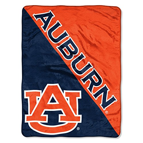 The Northwest Company Officially Licensed NCAA Auburn Tigers Halftone Micro Raschel Throw Blanket, 46
