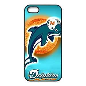 Miami Dolphins iPhone 5s Cases TPU Rubber Hard Soft Compound Protective Cover Case for iPhone 5 5s