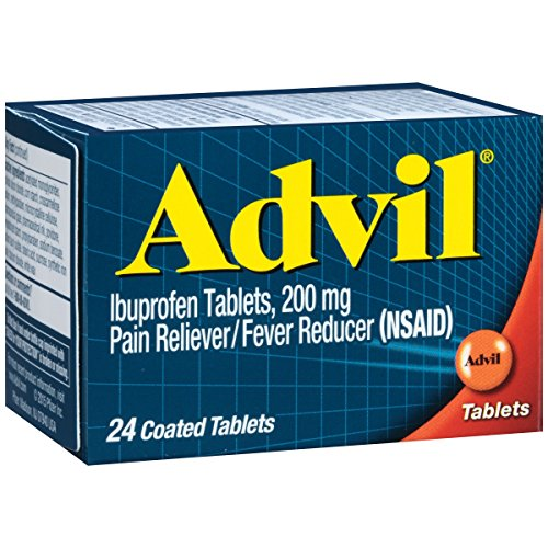 Advil Tablets Advanced Medicine - Advil (24 Count) Pain Reliever / Fever Reducer Coated Tablet, 200mg Ibuprofen, Temporary Pain Relief