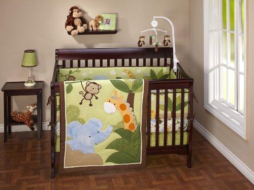 NoJo Little Bedding  Jungle Time 4 Piece Crib Set, Baby & Kids Zone