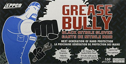 Price comparison product image GREASE BULLY 6 mil Black Nitrile Gloves - Large -100ct