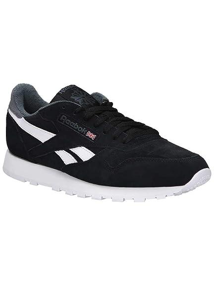 a136c13bb24 Reebok Men s Cl Leather Mu Gymnastics Shoes Black  Amazon.co.uk  Shoes    Bags