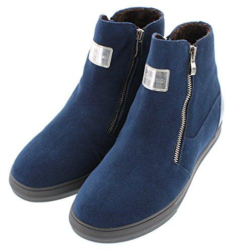 calto–g303106,6cm größer die Höhe Steigerung Aufzug Schuhe–Blau Winter Stil Stiefel