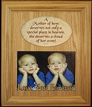 Amazoncom 8x10 A Mother Of Boys Photo Poetry Frame Holds A