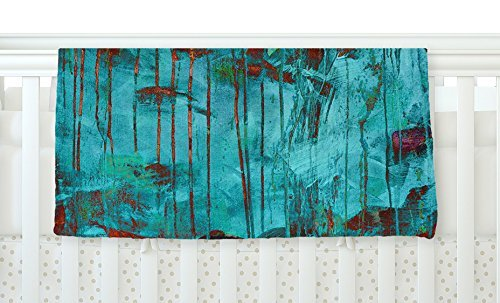 KESS InHouse Iris Lehnhardt Rusty Teal Paint Teal Fleece Baby Blanket 40 x 30 [並行輸入品]   B077ZT46RF