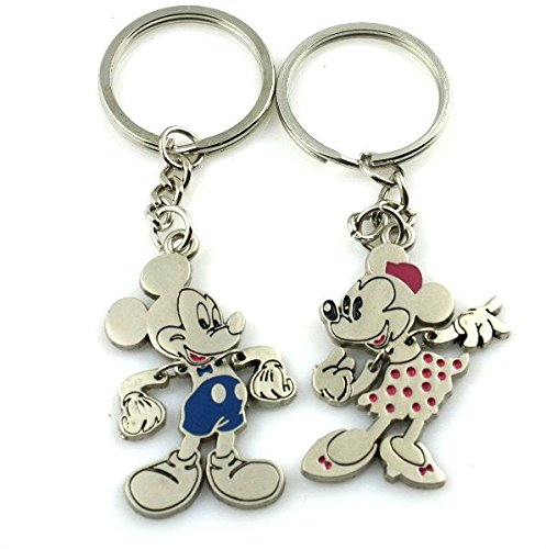 Disney Lover Mickey Lover His Her Keychain Keyring Couples