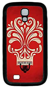 Galaxy S4 Case, Personalized Protective Soft Rubber TPU Black Edge Red Piano Case Cover for Samsung Galaxy S4 I9500