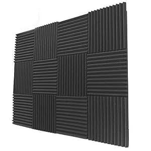 "12 Pack- Acoustic Panels Studio Foam Wedges 1"" X 12"" X 12"""