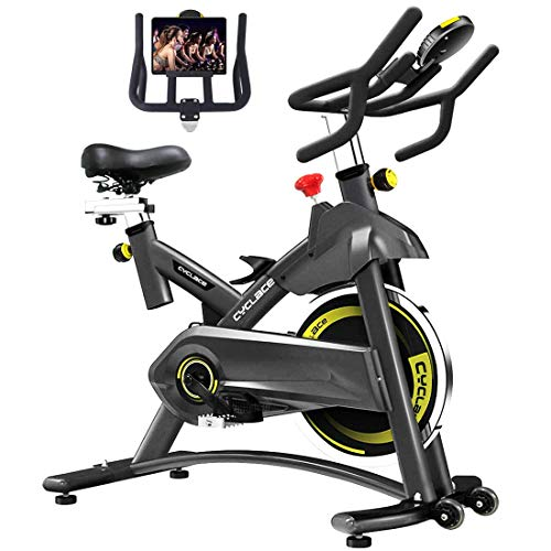 Cyclace Indoor Exercise Bike Stationary Cycling Bike with Ipad Holder for Home Workout (Best Upright Stationary Bike 2019)