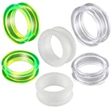 3 Pairs of 26mm screw flesh tunnels ear plugs gauge acrylic stretching AHQZ Body piercing Jewelry