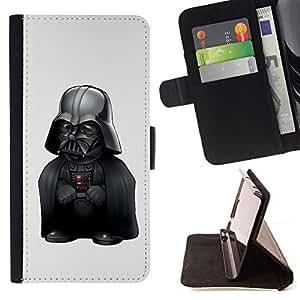 BullDog Case - FOR/LG G2 D800 / - / LOL Funny Midget Vader /- Monedero de cuero de la PU Llevar cubierta de la caja con el ID Credit Card Slots Flip funda de cuer