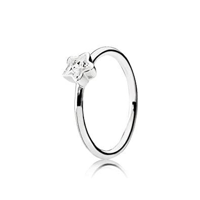 1d434df07 Pandora Women 925 Silver Tapered Baguette Clear Zirconium Oxide FASHIONRING:  Amazon.co.uk: Jewellery