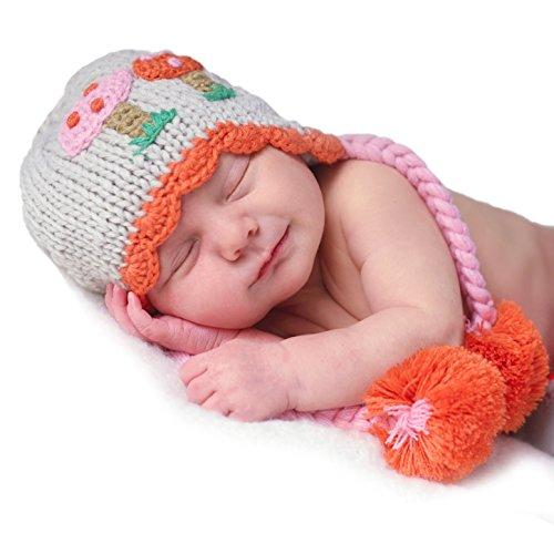 (Huggalugs Baby and Toddler Girls Mushrooms Beanie Hat Medium)