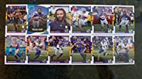 2017 Donruss Football Minnesota Vikings Team Set - 12 Cards - Dalvin Cook RC, Stacy Coley RC, Bucky Hodges RC, Randy Moss, Diggs, McKinnon, Thielen, and many more
