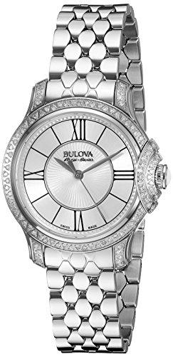 BULOVA Women's 63R145 Analog Display Analog Quartz Silver...