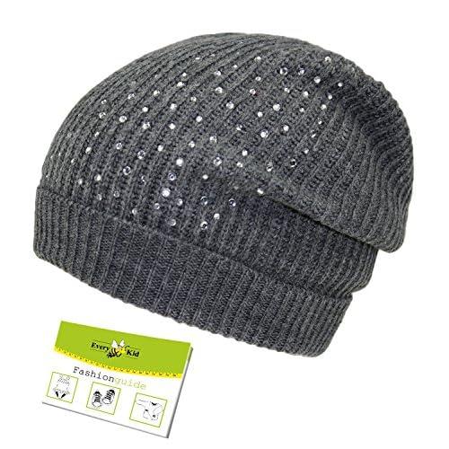 Maximo Oversize Gorro De Punto Casquillo Niñas Para Entretiempo Sombrero  Invierno Tapa Niños Diamantes Imitación ( 76972f07620